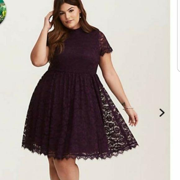 3486515ee87 purple lace dress
